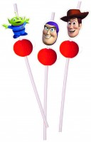 6 Toy Story Power Flexi Strohhalme