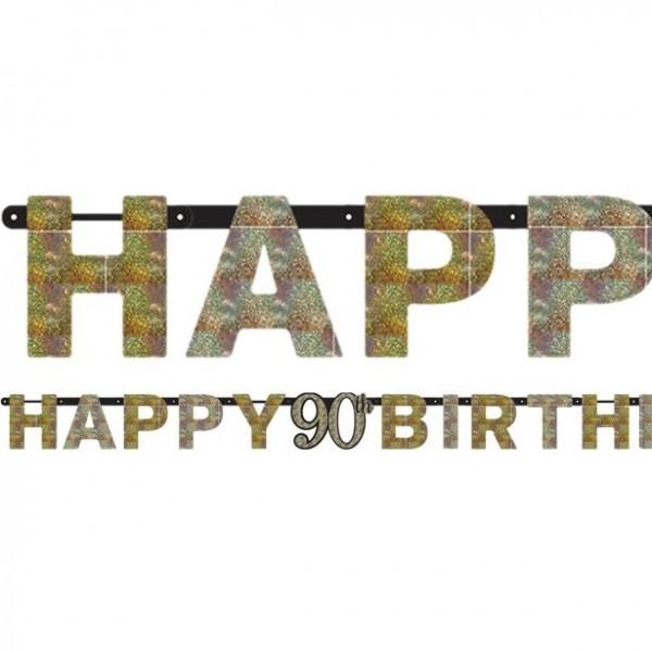 Happy 90th Birthday Holo-Girlande 2m