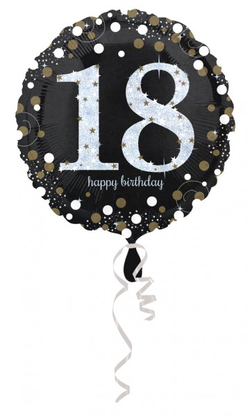 Golden 18th Birthday foil balloon 43cm