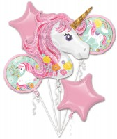 5 Believe in Unicorns Folienballons