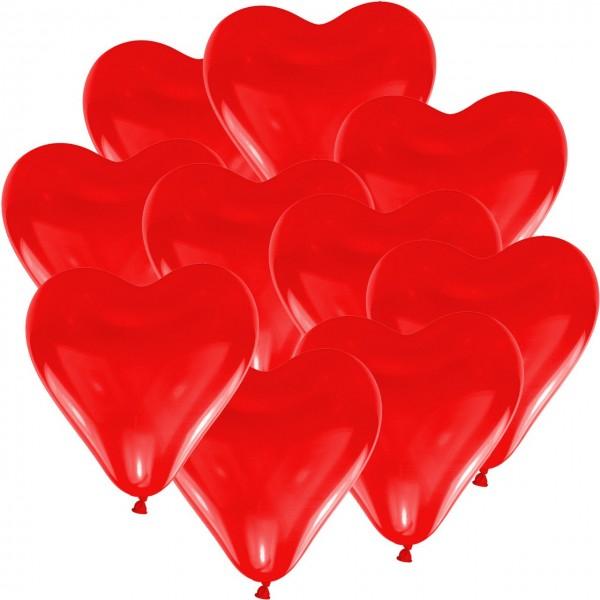 100 Julia Herz-Ballons 15cm 1