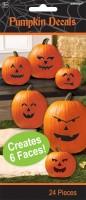 Sticker für 6 Halloween Kürbisse Create my face