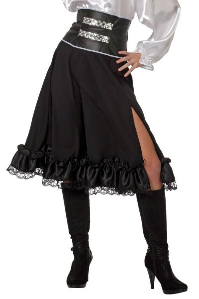 Elegancka marszczona spódnica z rozcięciem