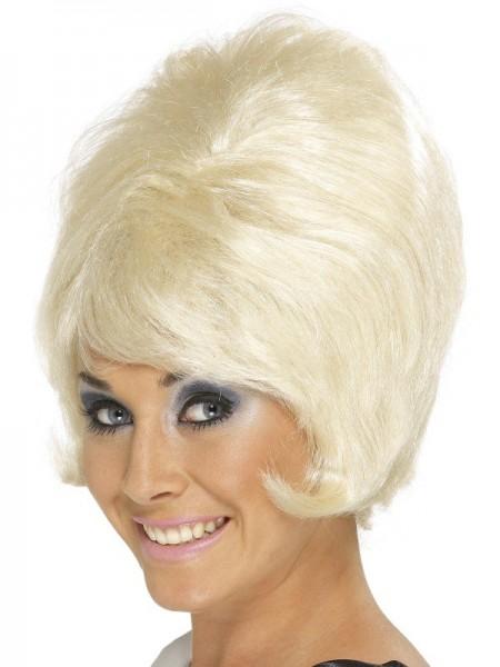 Perruque de ruche blonde des années 80