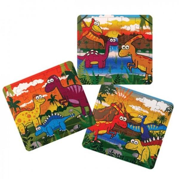 1 puzzle dinosaure 12 x 13 cm