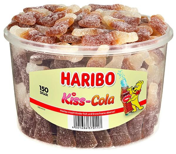 150 Haribo Kiss Cola 1350g