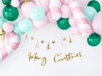 DIY Merry Christmas Girlande gold 83cm