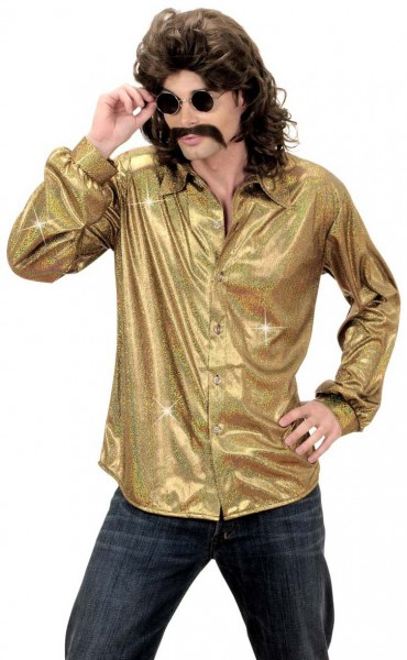 Camicia glitter Disco Fever Gold