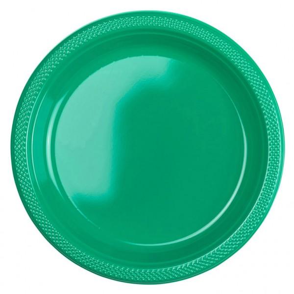 10 Kunststoffteller Partytime Grün 23cm