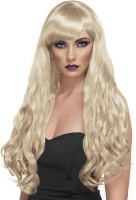 Perruque cheveux longs premium avec frange
