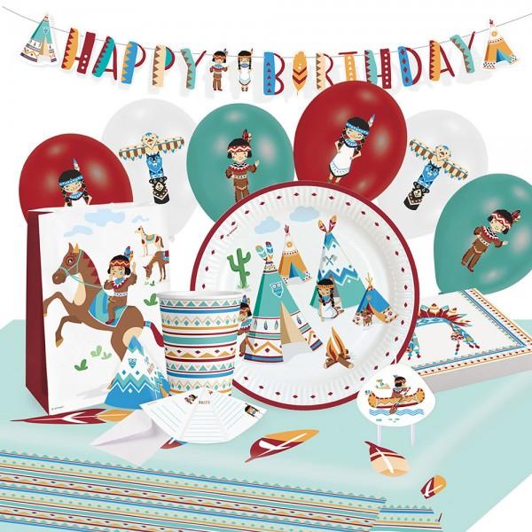 Party Set Indianerdorf 61-teilig
