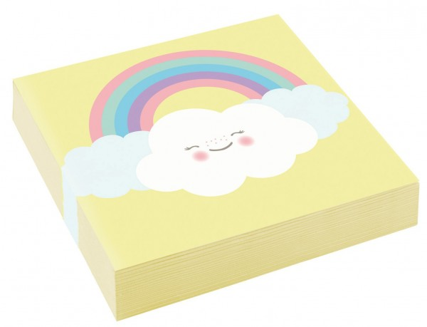 20 serviettes de table Sweet Cloud World 25cm