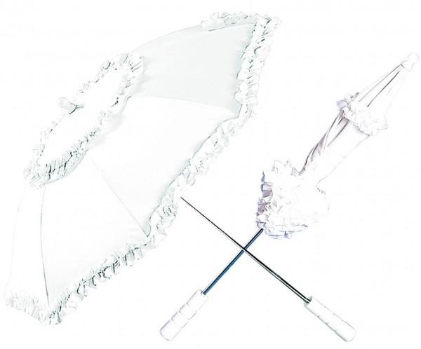 Historical umbrella with ruffles 72 cm