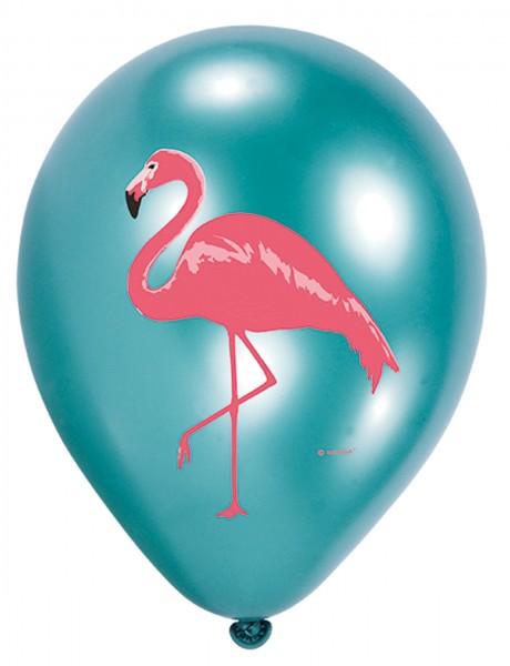6 Flamingo Paradise Ballons 27cm