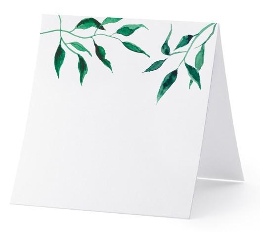 25 Aquarell Blätter Tischkarten 7 x 7,5cm