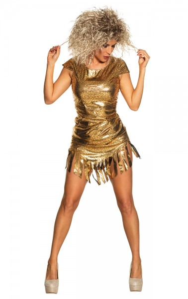 Sängerin Glamour Goldie Damenkostüm