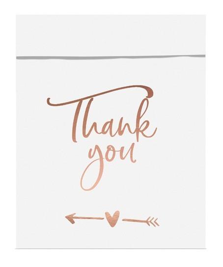 6 Thank you Geschenktüten roségold