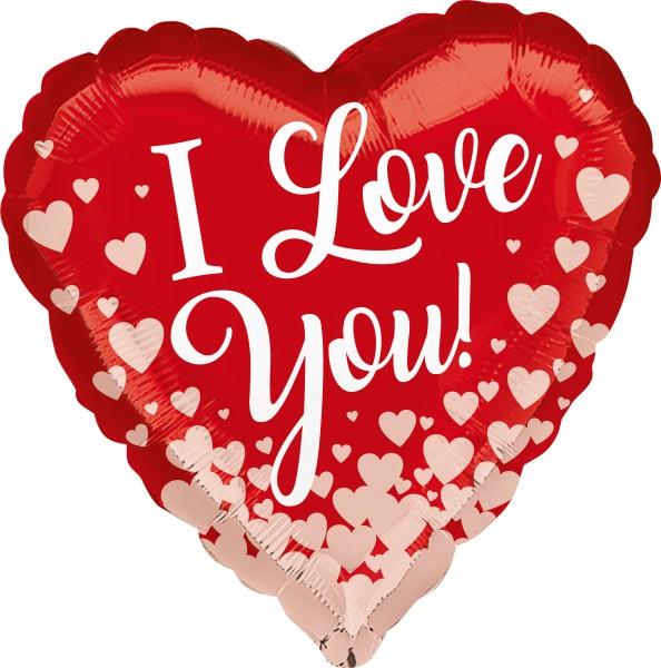 Palloncino cuore I-love-you 43cm