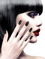Deluxe Fingernägel Schwarz