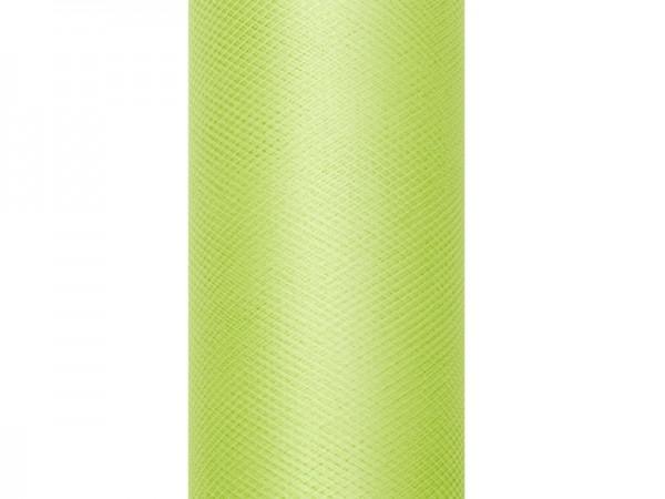 Tüll Stoff Luna hellgrün 9m x 50cm