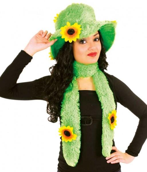 Sonnenblumen Schal & Hut