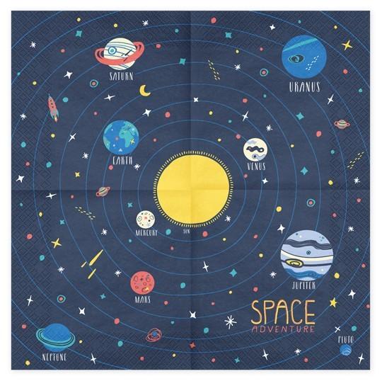 20 Weltall Party Space Servietten 33cm 3