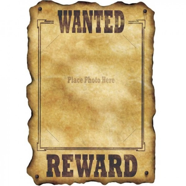 Wanted Foto Poster 30 x 43cm