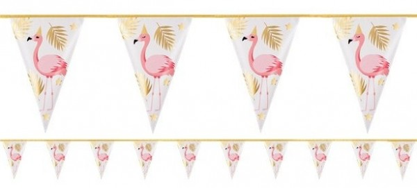 Party Flamingo Wimpelkette 4m