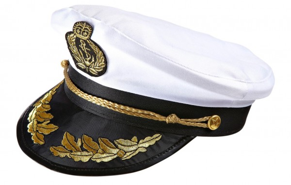 Captain's hat with gold trim