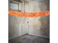 Papiergirlande Crazy Pumpkin 3m
