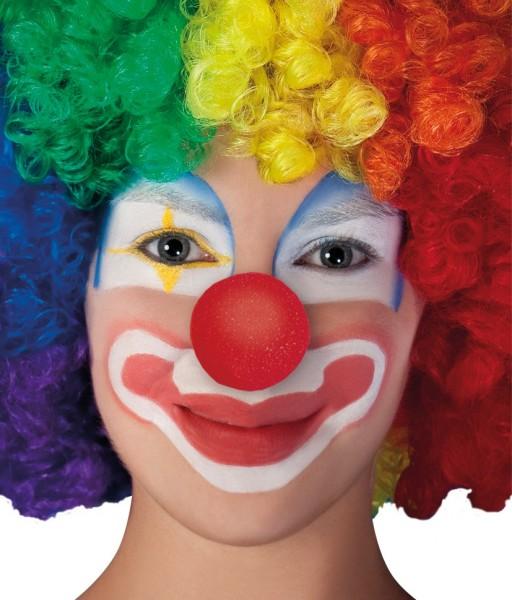 Klasyczny nos klauna wykonany z gumy piankowej
