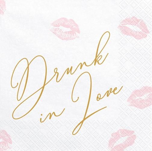 20 Drunk in love Servietten 33cm
