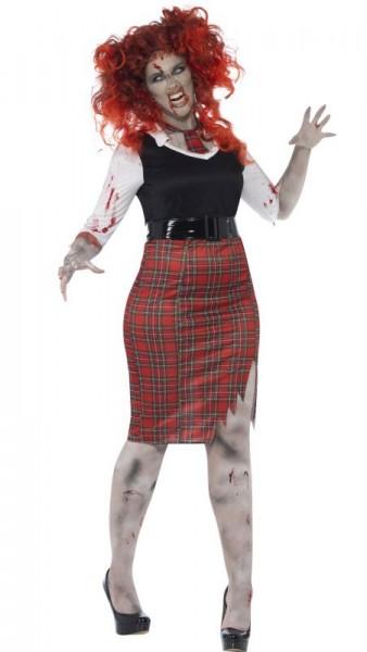 Zala Zombie Schulmädchen Kostüm