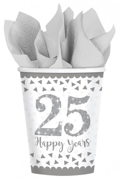 8 Sparkling 25 Years paper cup 266ml