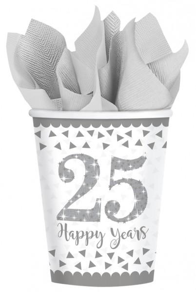 8 bicchieri di carta da 25 anni scintillanti 266 ml