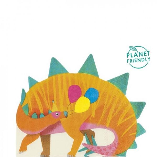 16 Dino Party Servietten 33cm