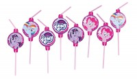 8 My Little Pony Flexi Strohhalme 24cm