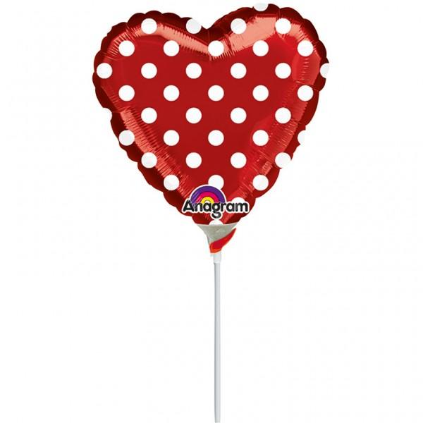 Ballon bâton pointillé en rouge