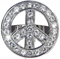 Love and Peace Strass Ring