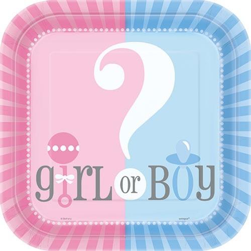 8 Baby Girl Or Boy Pappteller 23cm