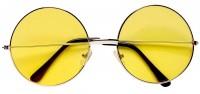Gelbe Hippie Brille Ronny