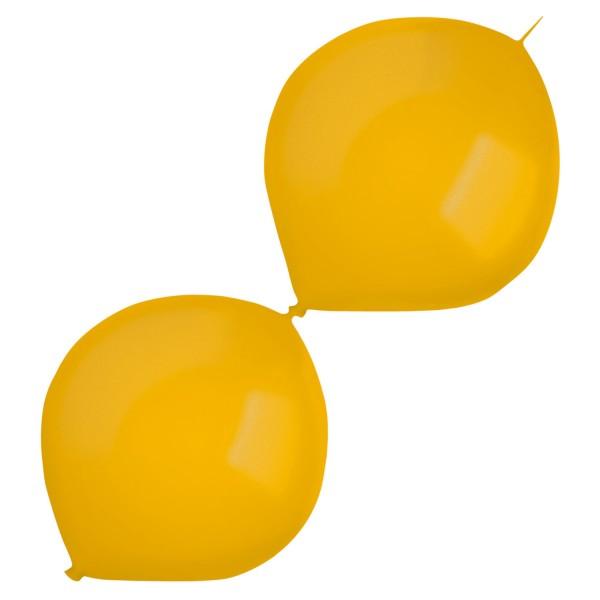 50 Metallic Girlandenballons gold 30cm
