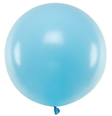 Balon lateksowy XL baby blue 60cm