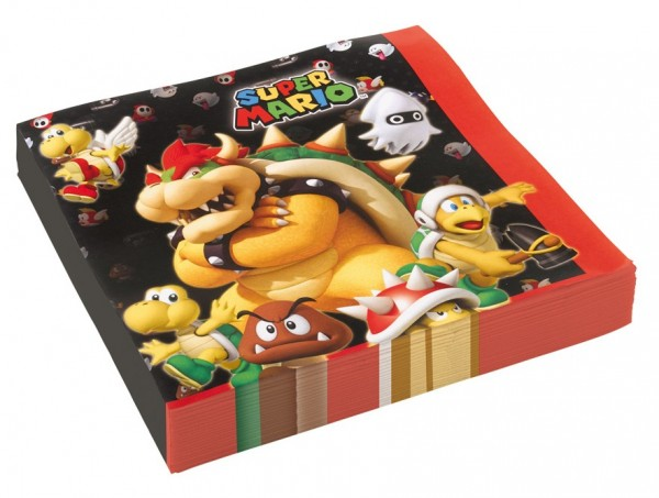 20 serviettes Super Mario Villains 33cm