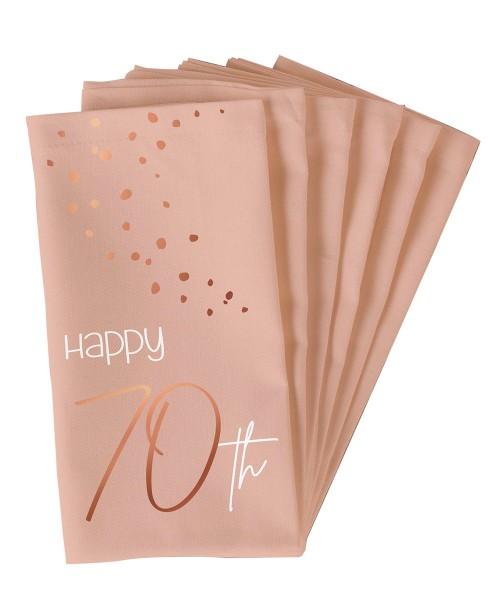 70. Geburtstag 10 Servietten Elegant blush roségold