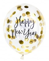 3 VIP New Year Konfetti Ballons 30cm