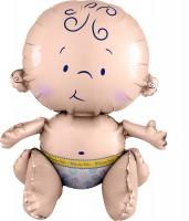 Folienballon Süßes Baby sitzend XL