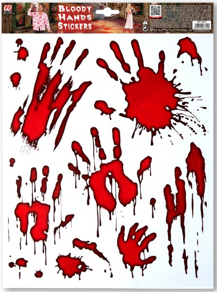 Blutige Handabdrücke Sticker-Set
