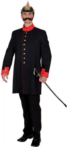 Black officer men's coat