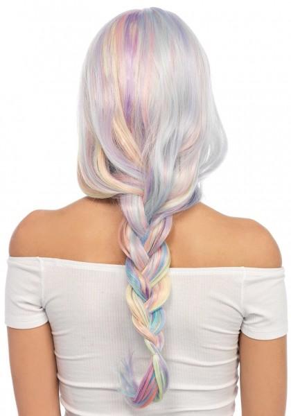 Regenbogen Perücke pastell für Damen